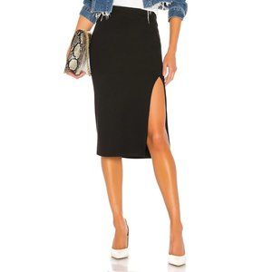 Lovers + Friends Aubrey Midi Skirt in Black